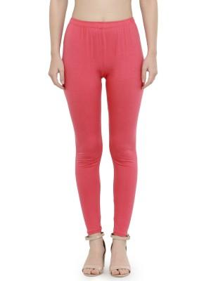 Best Premium Quality Plain Hot Pink Cotton Lycra Ankle Length Leggings