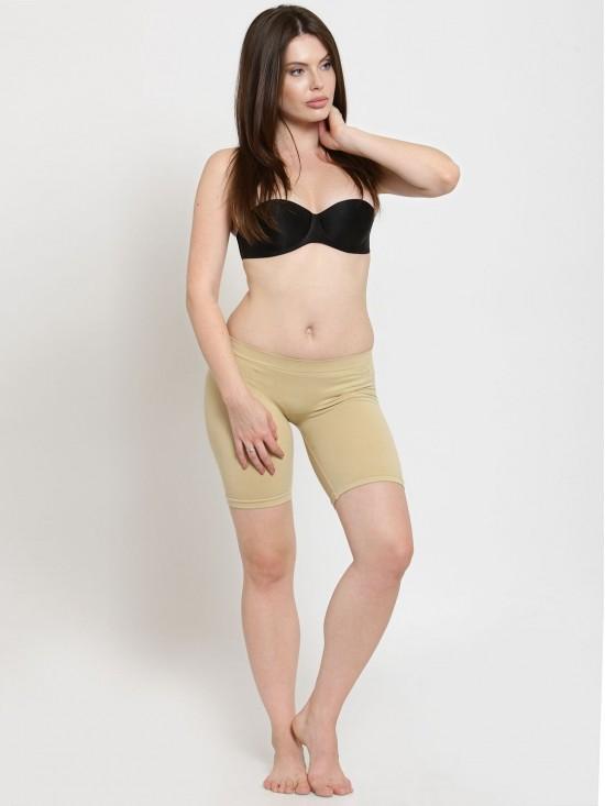 Low Waist Beige Body Sculpting Medium Thigh Control Butt Lifting Shaper-Body Shapewear   N-Gal