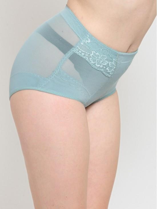 Seamless Body Sculpting Tummy Control & Butt Lifting Midwaist Blue Brief Shapewear-Body Shapewear | N-Gal